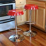 AmeriHome 2-piece Retro Soda Cap Bar Stool Set