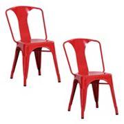 AmeriHome 2 pc Loft Metal Dining Chair Set