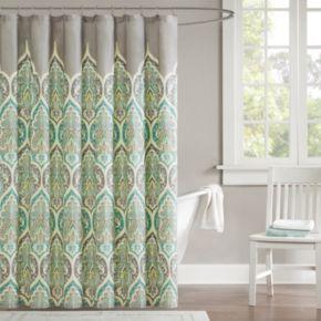 Madison Park Tara Fabric Shower Curtain