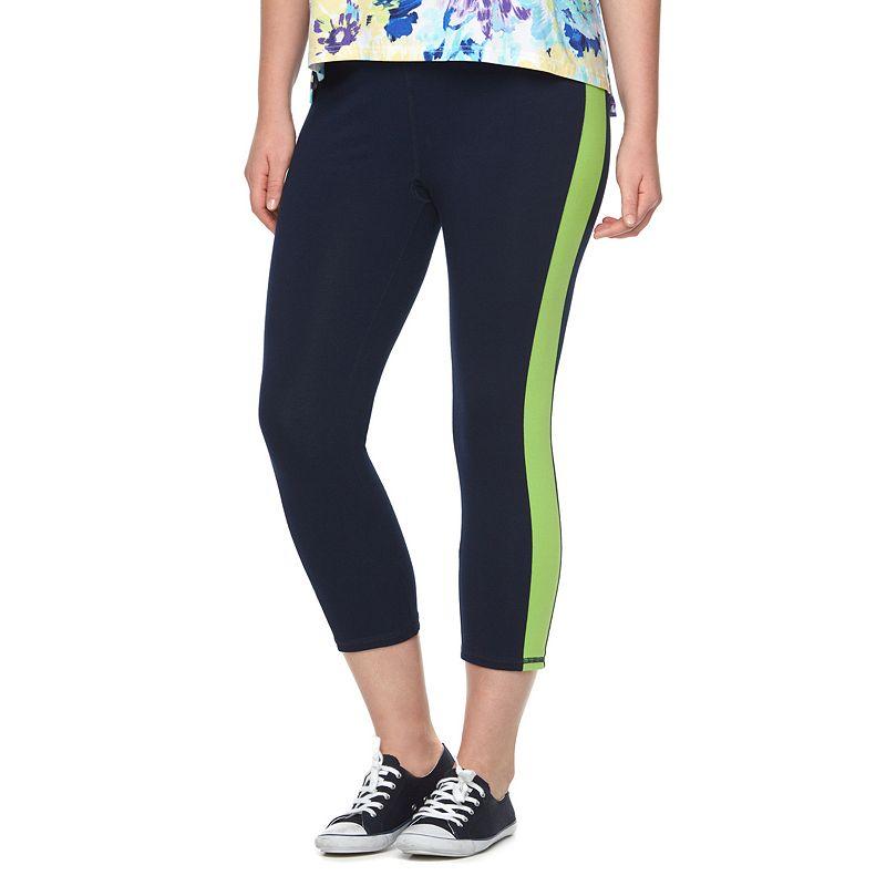Plus Size Chaps SPORT Colorblock Crop Leggings