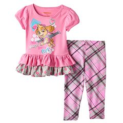 Paw Patrol 'This Pups Gotta Fly' Ruffle Top & Leggings Set - Baby Girl