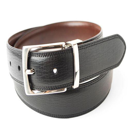 Men's Dockers Feather-Edge Textured Reversible Belt