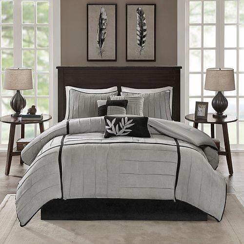 Madison Park Meyers 7 Pc Pintuck Comforter Set