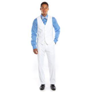 Savile Row Slim-Fit White Tuxedo Vest - Men