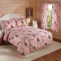 Realtree Camo Pink Reversible Comforter Set