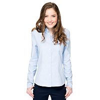 Lee Uniforms Juniors' Long Sleeve Stretch Oxford Top