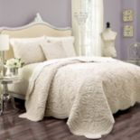 Vue Signature Plush Decor Charlotte 3-pc. Faux-Fur Coverlet Set