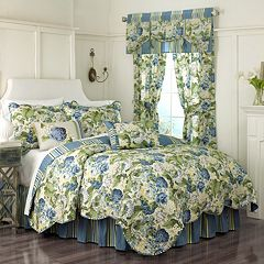 Waverly Floral Flourish Reversible Quilt Set