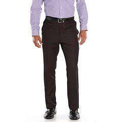 Men's Steve Harvey Classic-Fit Maroon Pleated Suit Pants