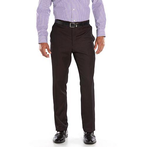 Men's Steve Harvey Classic-Fit Maroon Pleated Suit Pants