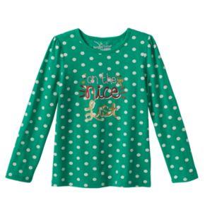 Girls 4-7 Jumping Beans® Christmas Tee