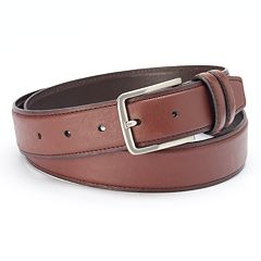Dockers Tan Drop-Edge Leather Belt - Men