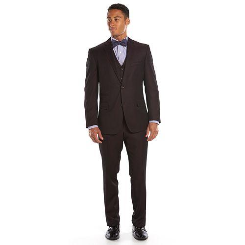 Men's Steve Harvey Classic-Fit Maroon Suit Jacket