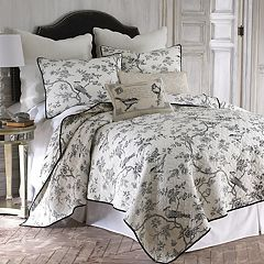 Black Toile Quilt Set