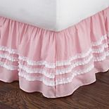 Pink Ruched Dust Ruffle Bedskirt