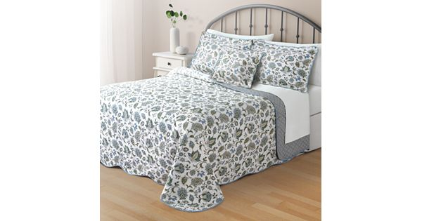 Home Classics Clair Jacobean Reversible Bedspread