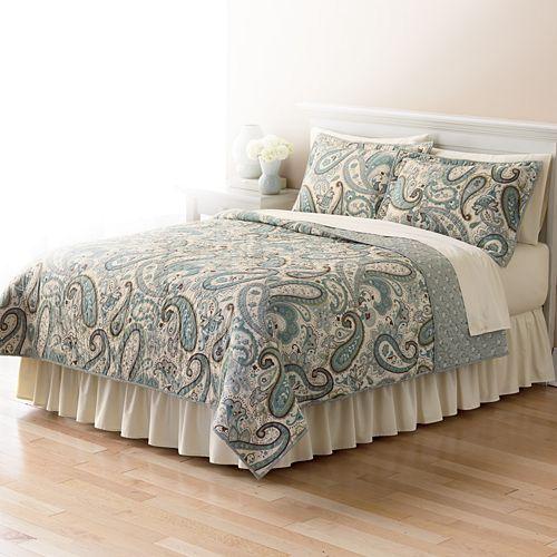 Home Classics 174 Sarah Paisley Reversible Quilt