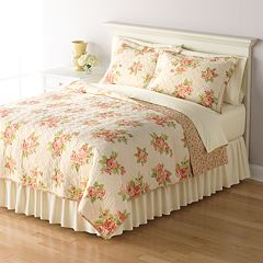 Home Classics® Sarah Classic Floral Reversible Quilt