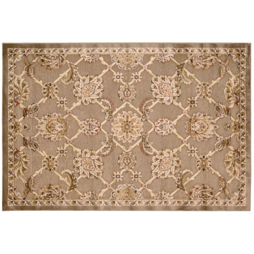 Kathy Ireland Bel Air Brown Floral Rug