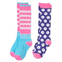Girls 6-11 SO® 2-pk. Striped Knee-High Socks