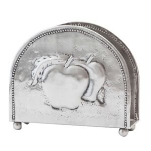 Old Dutch Embossed Steel Apple Napkin Holder