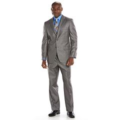 Men's Steve Harvey Classic-Fit Gray Plaid Suit Jacket - Men