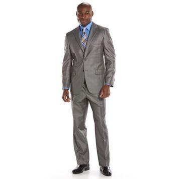 Men's Steve Harvey Classic-Fit Gray Plaid Suit Jacket - Men