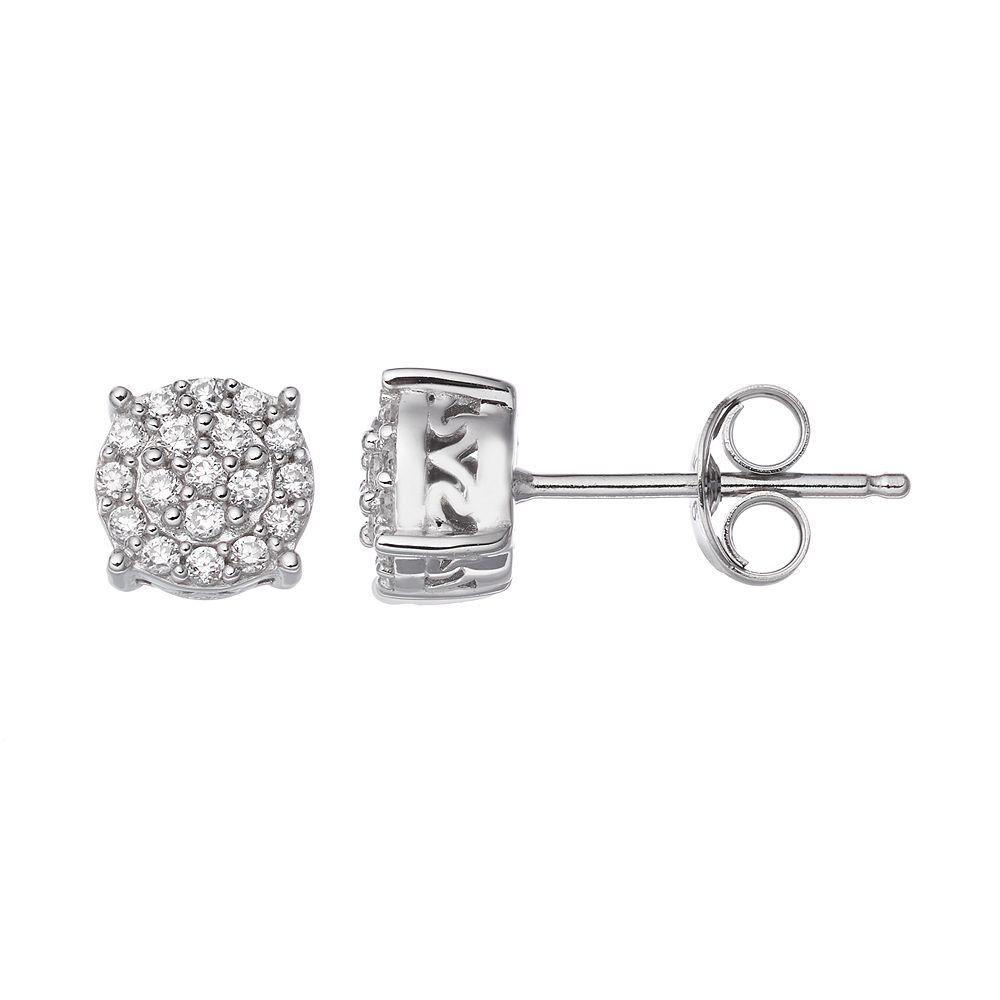 Simply Vera Sterling Silver 1 4 Carat T W Diamond Stud Earrings