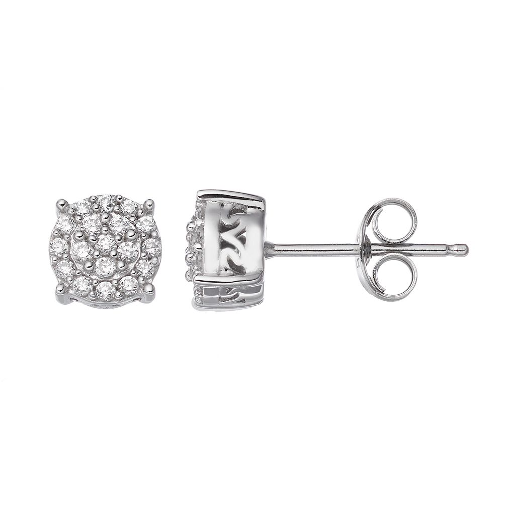 Simply Vera Vera Wang Sterling Silver 1/4 Carat T.W. Diamond Stud Earrings