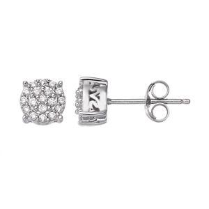 Simply Vera Vera Wang Sterling Silver 1/4 Carat T.W. Diamond Stud Earrings