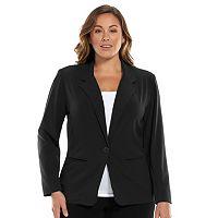 Plus Size Dana Buchman Solid Jacket