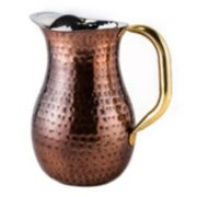Old Dutch 2-qt. Antique Décor Hammered Copper Pitcher