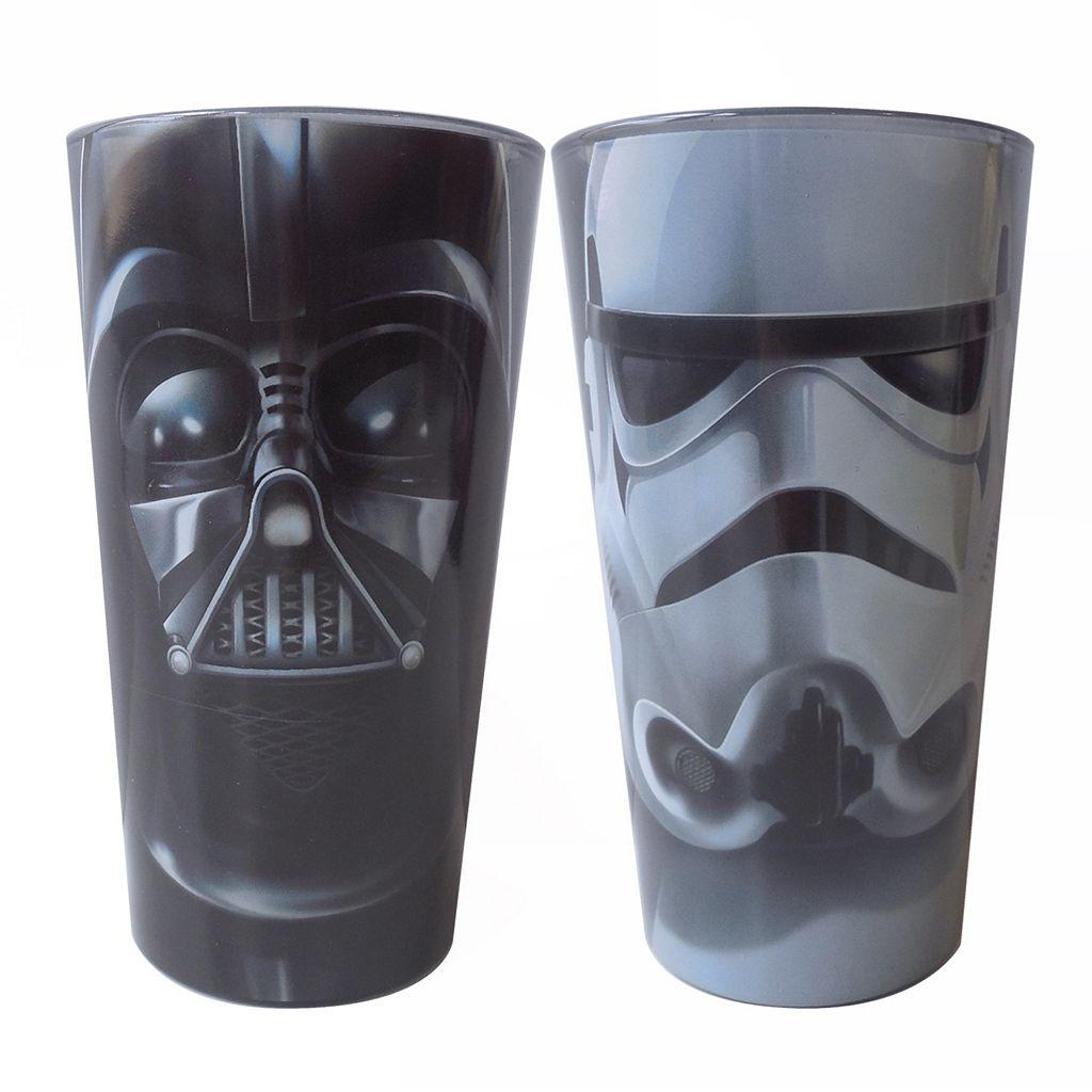 Star Wars: Episode VII The Force Awakens 16-oz. Darth Vader & Stormtrooper Glass Set