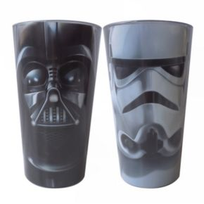 Star Wars: Episode VII The Force Awakens Darth Vader & Stormtrooper 16-oz. Glass Set