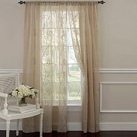 Laura Ashley Lifestyles Frosting Sheer Window Curtain Set