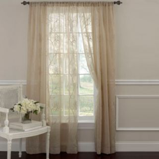Laura Ashley Lifestyles Frosting 2-pk. Sheer Window Curtains