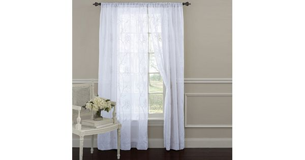 Laura Ashley Lifestyles Frosting 2-pk. Sheer Curtains