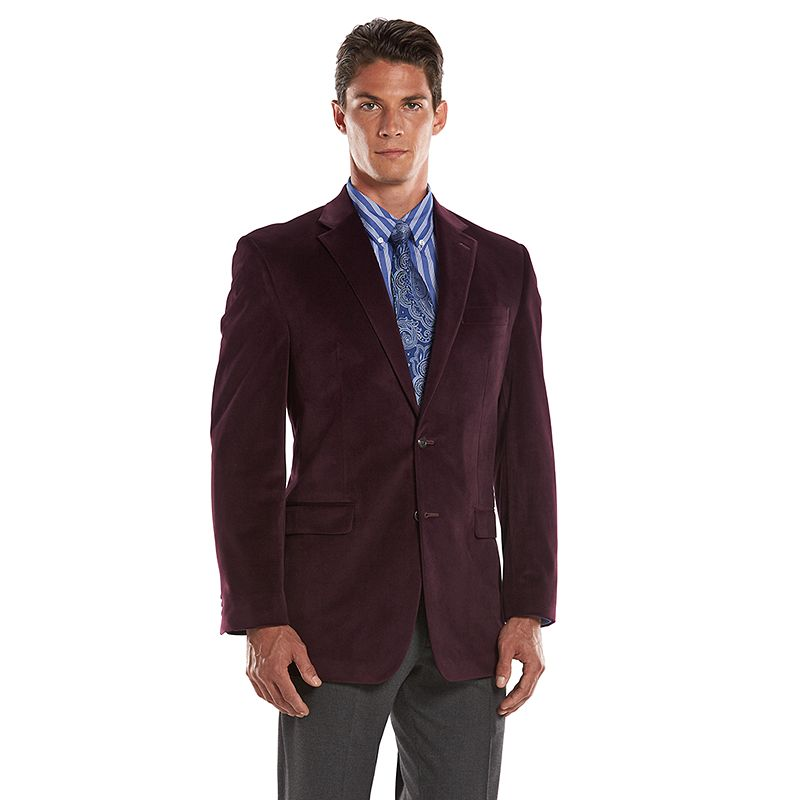 Men's Chaps Classic-Fit Burgundy Sport Coat