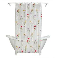 Zenna Home Wild Flower PEVA Shower Curtain
