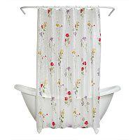 Zenna Home Wild Flower PEVA Shower Curtain