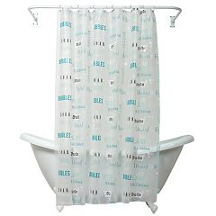 Zenna Home Bubble Bath PEVA Shower Curtain