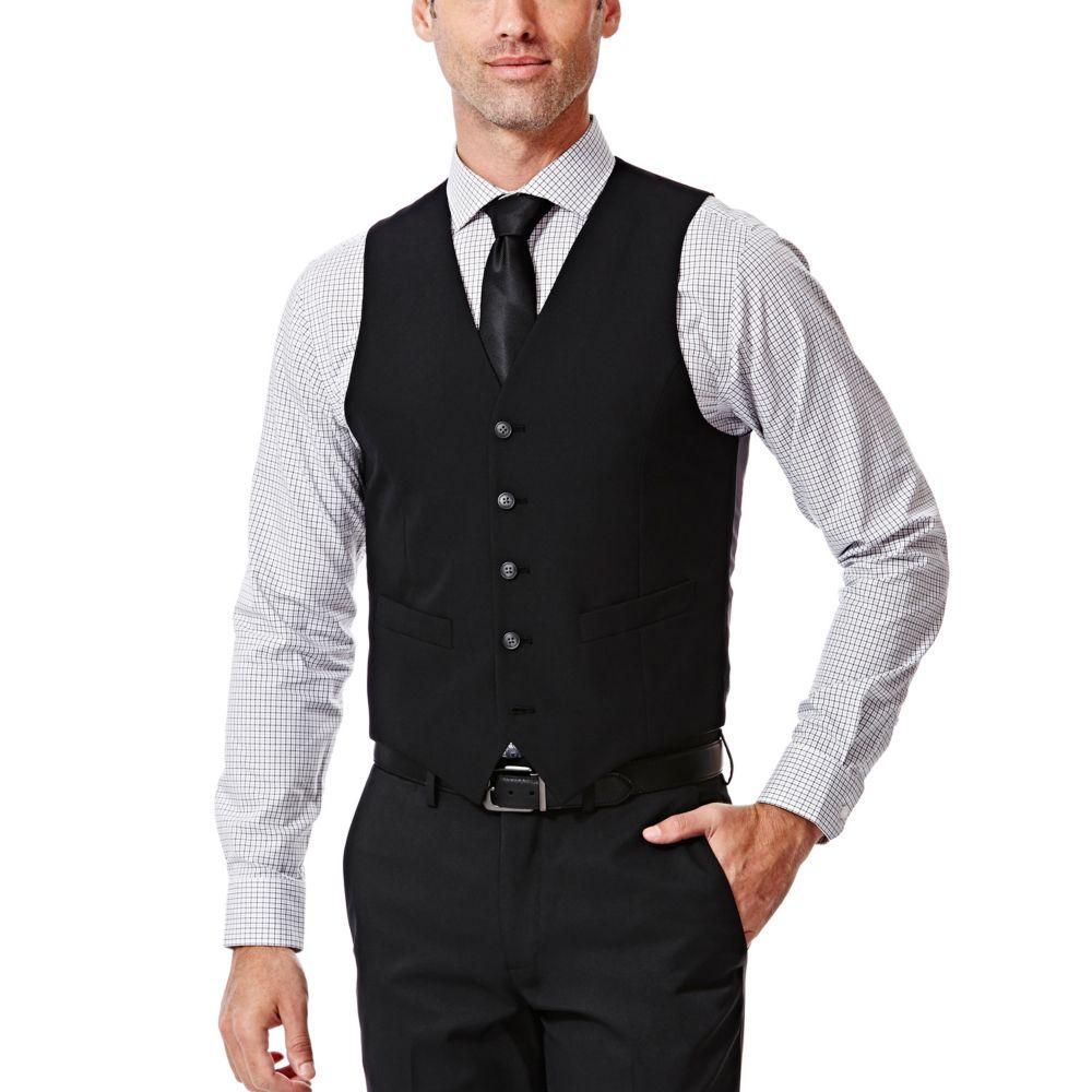 Mens Haggar Slim Fit Black Suit Vest