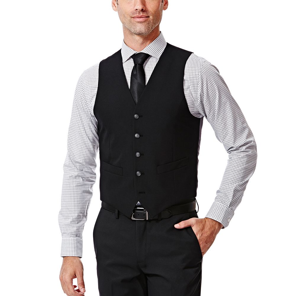 Mens Black Suit Vest opLe