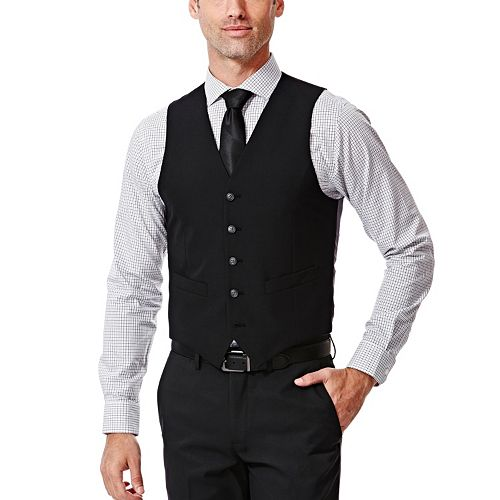 Men's Haggar® Slim-Fit Black Suit Vest