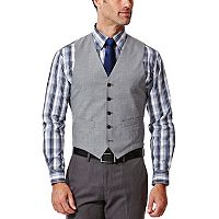 Men's Haggar® Slim-Fit Heathered Light Gray Suit Vest