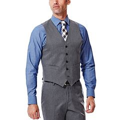 Men's Haggar® Straight-Fit Gabardine Heather Dark Gray Suit Vest