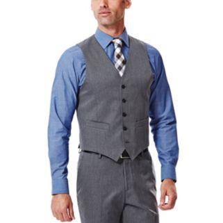 Men's Haggar® Straight-Fit Gabardine Heather Dark Gray Suit Vest