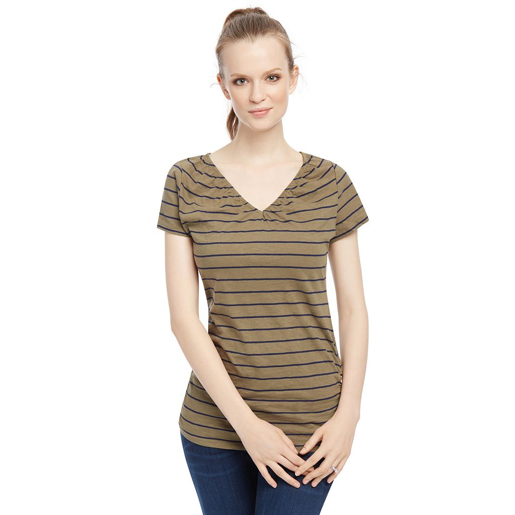 Maternity Oh Baby by Motherhood™ Pull-Down Nursing Tee