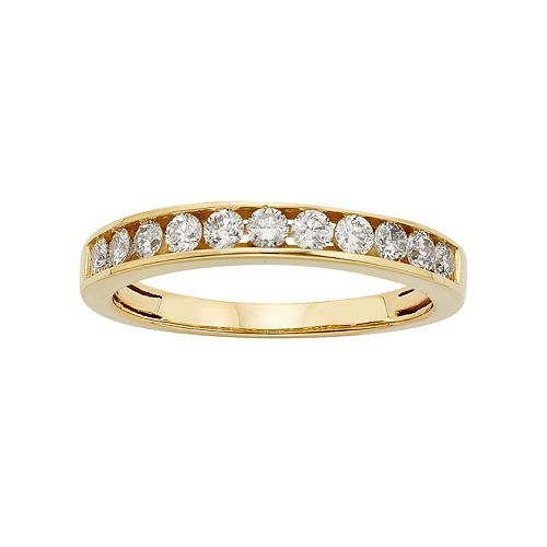 IGL Certified Diamond Wedding Ring in 14k Gold (1/2 Carat T.W.)
