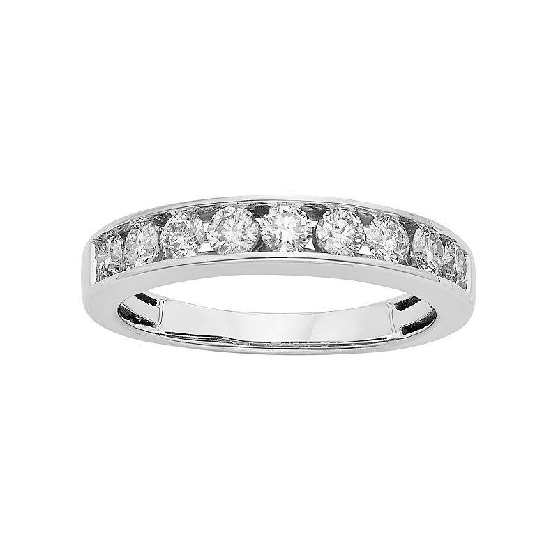 IGL Certified Diamond Wedding Ring in 14k Gold (3/4 Carat T.W.), Women's, Size: 5, White